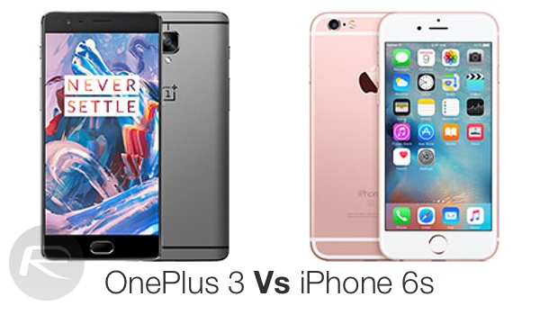 OnePlus 3 vs iPhone 6s main