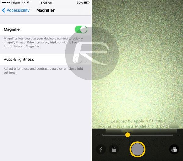 iOS 10 Magnifier