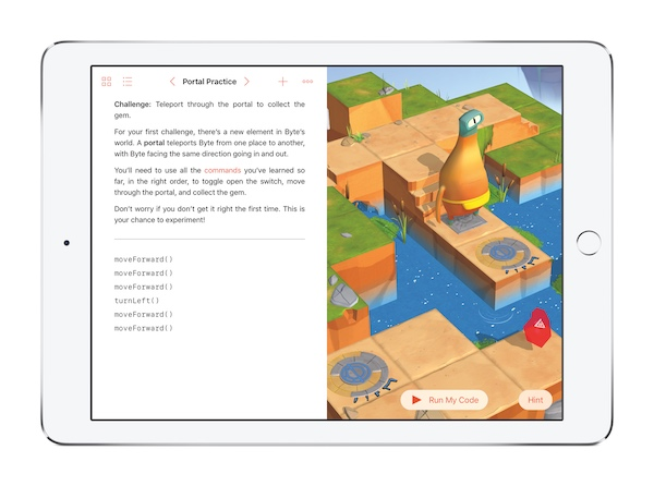iPad Swift Playgrounds app