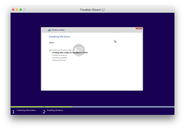Parallels windows 10 install