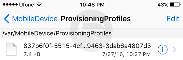 ProvisioningProfiles