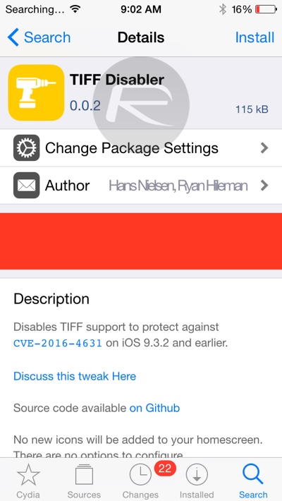 Tiff disabler patch