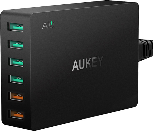 AUKEY-USB-Charger-with-Dual-Quick-Charge-3.0-Ports-&-4-USB-Ports