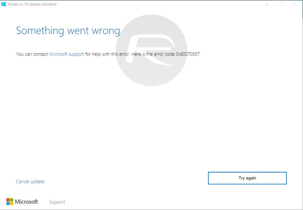 Windows 10 error