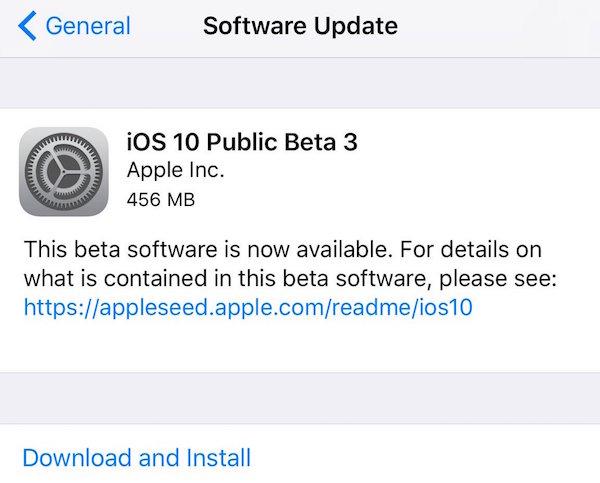 ios 10 public beta 3