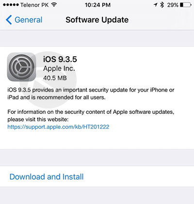 Download iOS 9 3 5 IPSW For iPhone, iPad, iPod touch [Direct Links