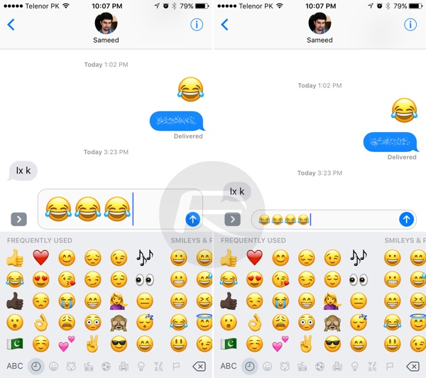 Send 3X Large Size Emoji Using iOS 10 Messages App, Here's ...