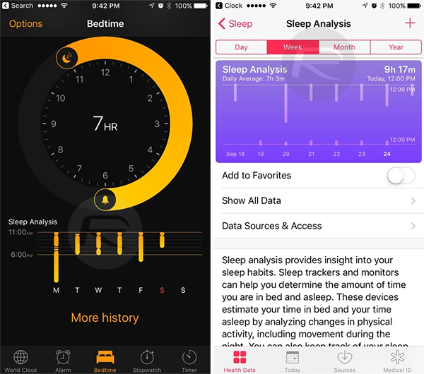 sleep analysis iphone use ios 10 bedtime mode for your sleep analysis and 9477