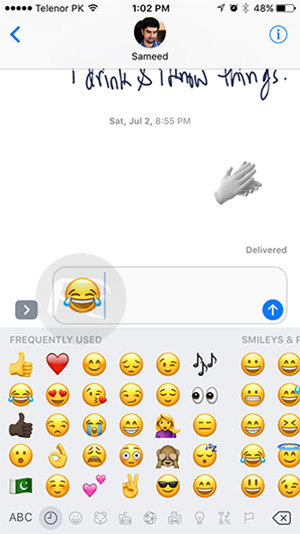 send 3x large size emoji using ios 10 messages app here s how