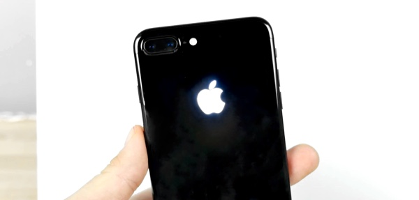 iPhone 7 apple logo glowing mod