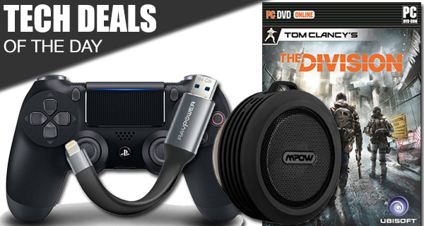 Tech Deals: 2016 DualShock 4 Controller For PS4, The Division For PC, iPhone Flash Drive, More