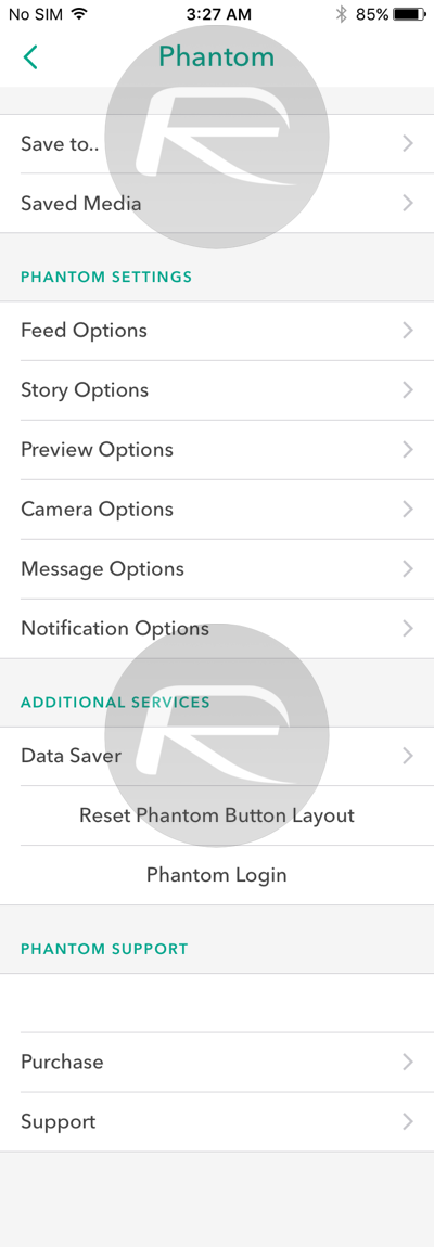 Phantom For Snapchat IPA On iOS 11 Download Released [No