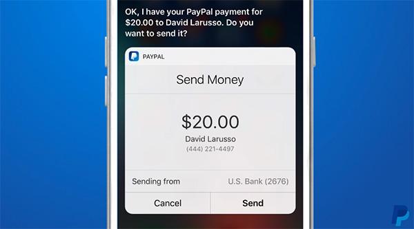 PayPal-Siri