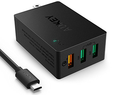 Quick-Charge-2.0-AUKEY-3-Port-USB-Wall-Charger