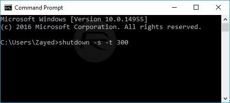 Shutdown-timer-set