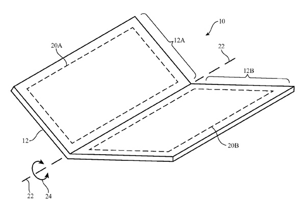 apple awarded patent for foldable or bendable iphone