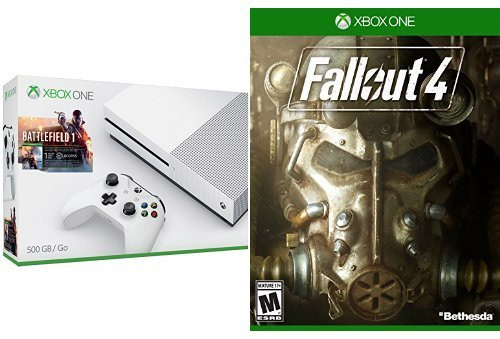Xbox-One-S-500GB-Console---Battlefield-1-Bundle-+-Fallout-4