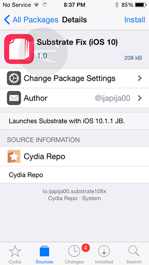 Fix / Enable Cydia Substrate On iOS 10 Jailbreak, Here's How