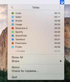 usage screen