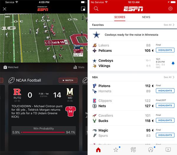 ESPN-iOS-app