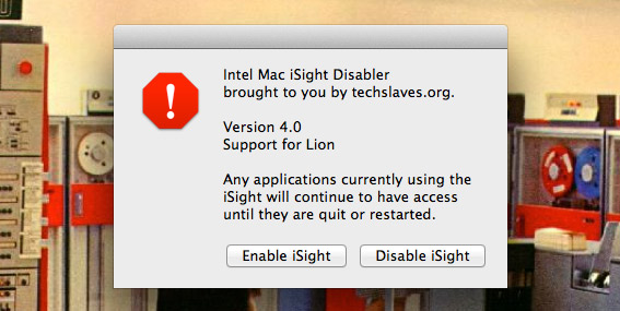 iSight-Disabler