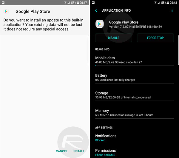 Install Google Play Store Apk