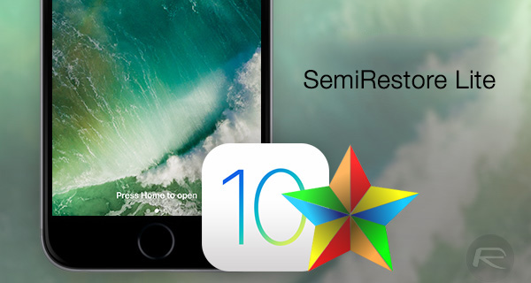 SemiRestore10-Lite: Restore iOS 10 2 Without Losing