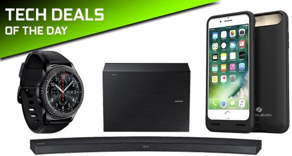 promo code cb184 e3c2e Tech Deals: Gear S3 Frontier, $40 iPhone 7 Plus Battery Case, 30 ...
