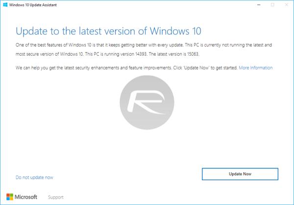Download ISO: Windows 10 Creators Update 1703 Build 15063