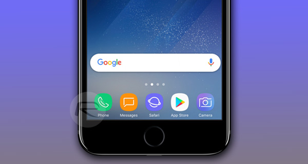 How To Get Galaxy S8 Launcher Theme On iPhone Running iOS 10