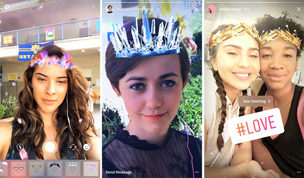 Instagram Adds Snapchat-Like AR Face Filters, Rewind Video