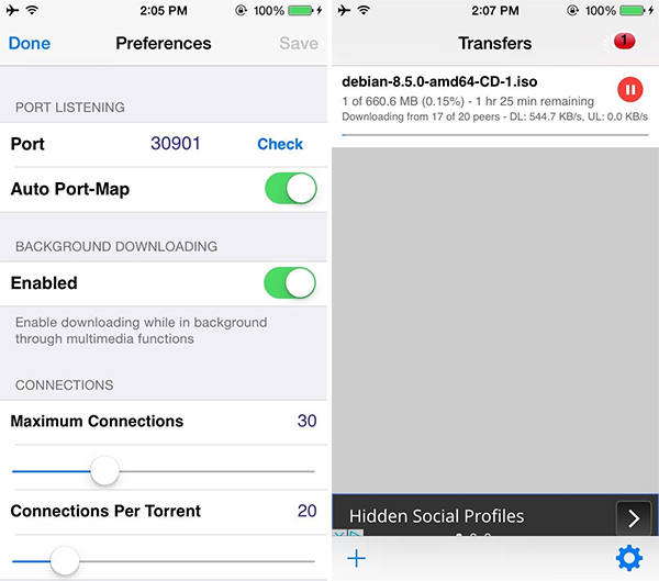 Download iTransmission 5 IPA Of Torrent Client On iOS 10