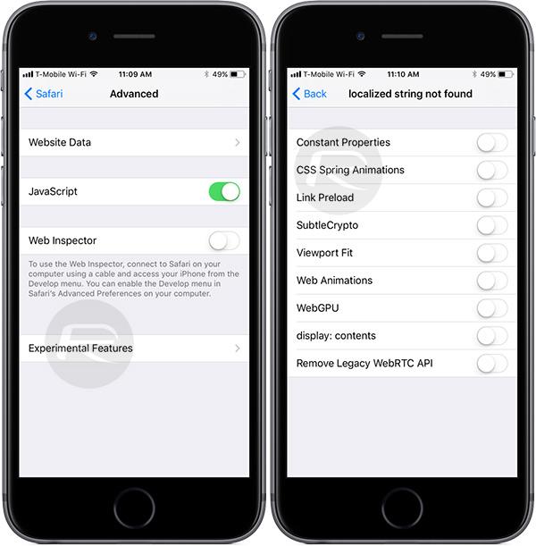 iOS 11 Beta 2 Adds Safari Experimental Features   Redmond Pie