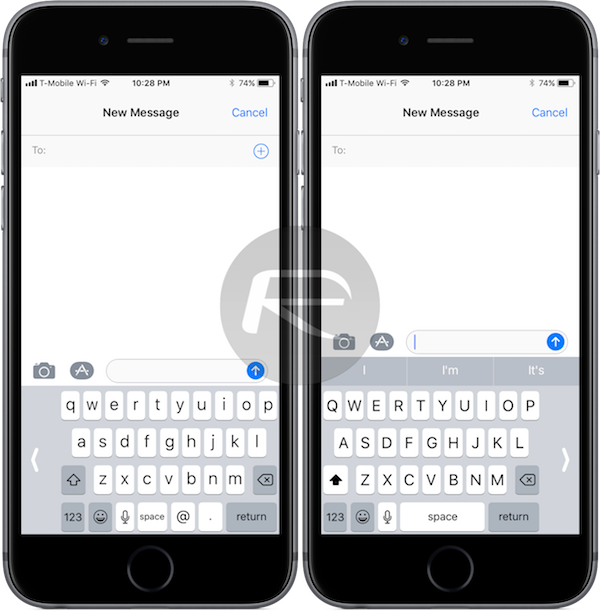 How To Enable Ios 11 One Handed Keyboard On Iphone Redmond Pie