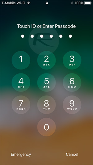 how to unlock iphone 4 passcode lock how to get new ios 11 lock screen passcode ui on ios 10 1130