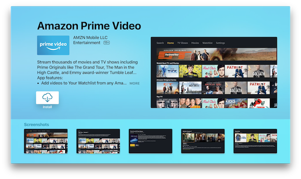 Download: Amazon Prime Video App For Apple TV Released