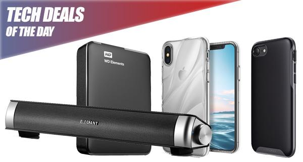 Tech Deals: $4 iPhone X Case, $10 iPhone 8 Case, $55 1TB Portable