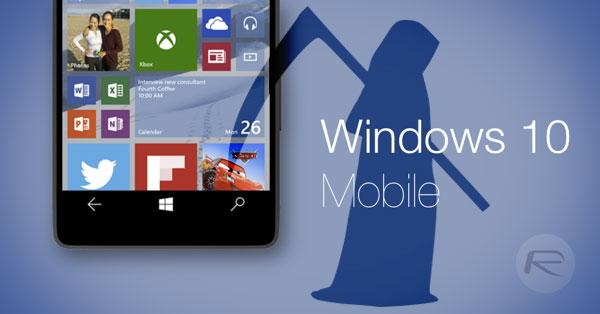 Windows 10 mobile bị khai tử