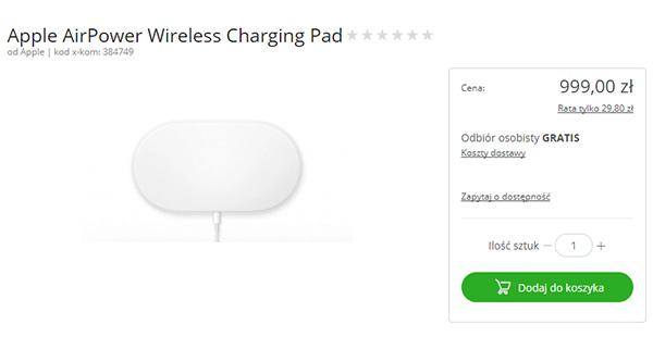 Rumor: Apple AirPower Wireless Charging Pad Set For Release Later