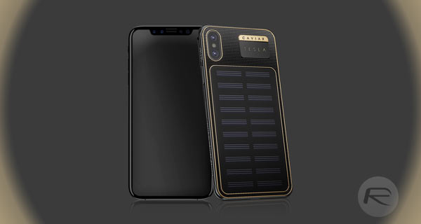 reputable site 7daa2 ed108 iPhone X Not Expensive Enough? The iPhone X Tesla Gold And Solar ...