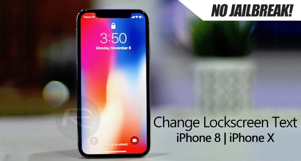 how to change iphone lock screen how to change lock screen text on iphone running ios 11 18626
