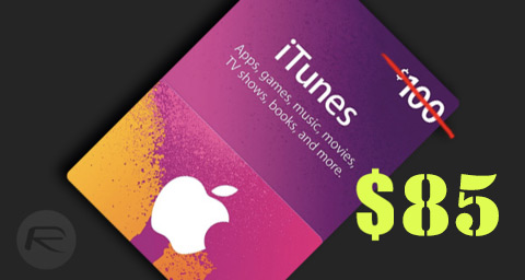 Deal Alert: Get $100 iTunes / App Store Gift Card For $85