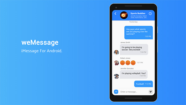 Download weMessage For iMessage On Android | Redmond Pie