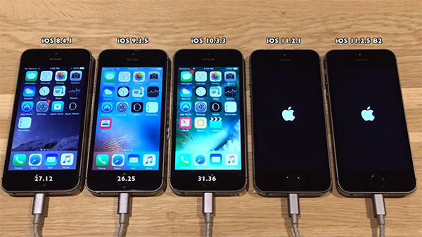 IPHONE 5S IOS 11.2.5 VS 10.3.1