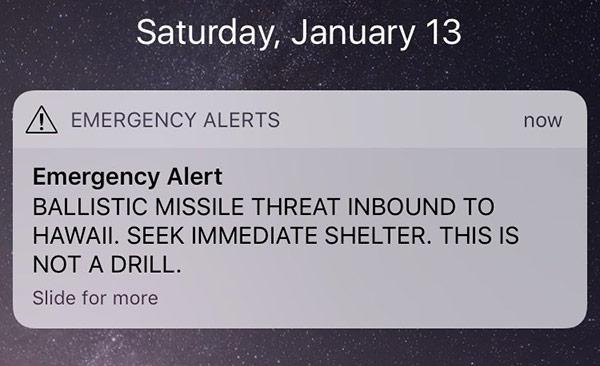 Iphones In Hawaii Receive Ballistic Missile Emergency