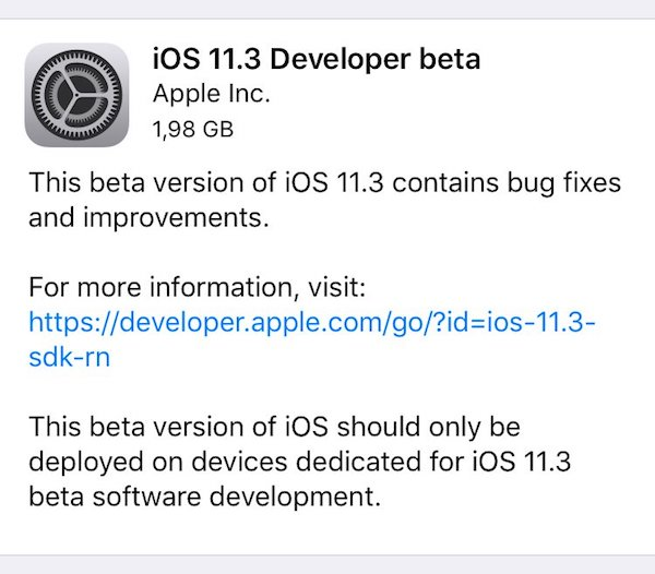 Download iOS 11 3 Beta 1 OTA Via Configuration Profile File Without