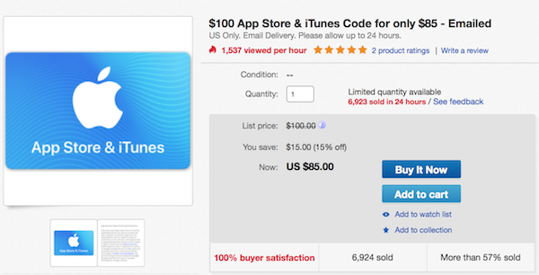 can you use itunes gift cards for app store