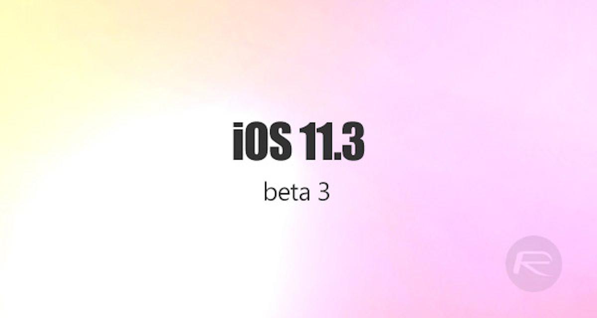 ios 11 3 developer beta 3
