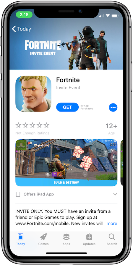 so then if you have got the invite code in email you can head over to app store link for the game here and download the game - invite email fortnite