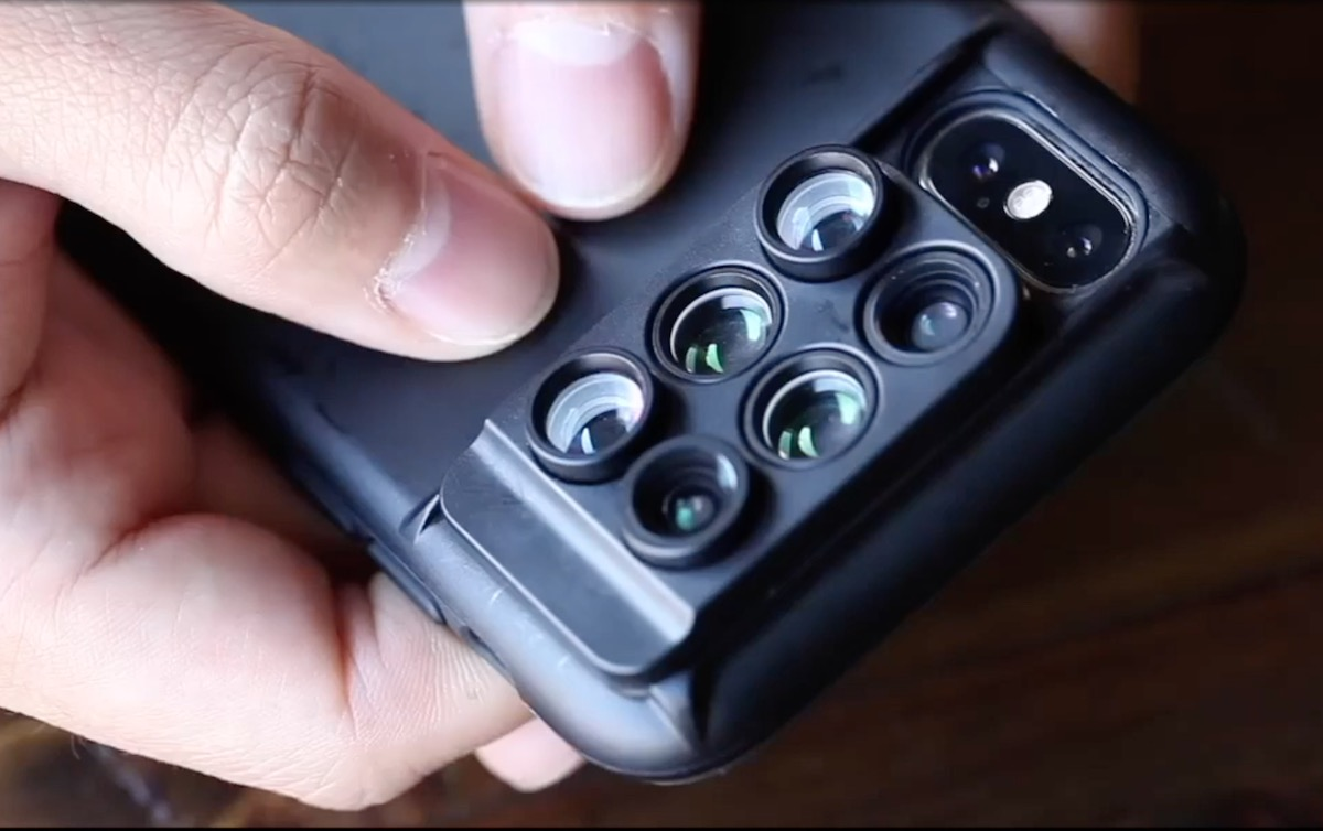 the latest 85b72 8f442 This 6-In-1 iPhone Lens Case Might Be The Slickest Mobile Camera ...